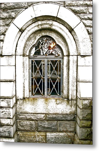 Castle Window Metal Print