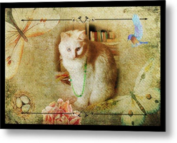 Kitty Cat Composite Art II Metal Print