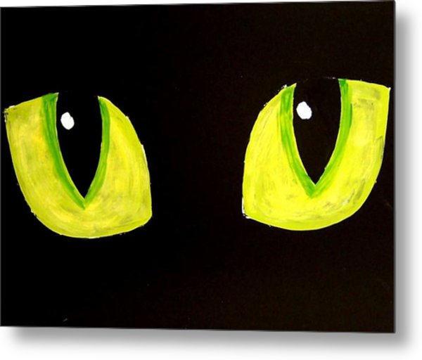 Cat Eyes Metal Print by Teo Alfonso