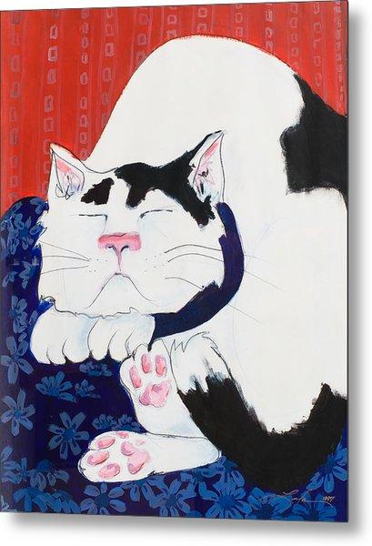 Cat I - Asleep Metal Print
