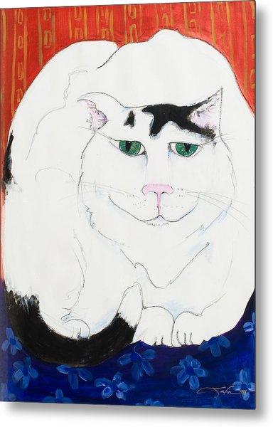 Cat II - Cat Dozing Off Metal Print