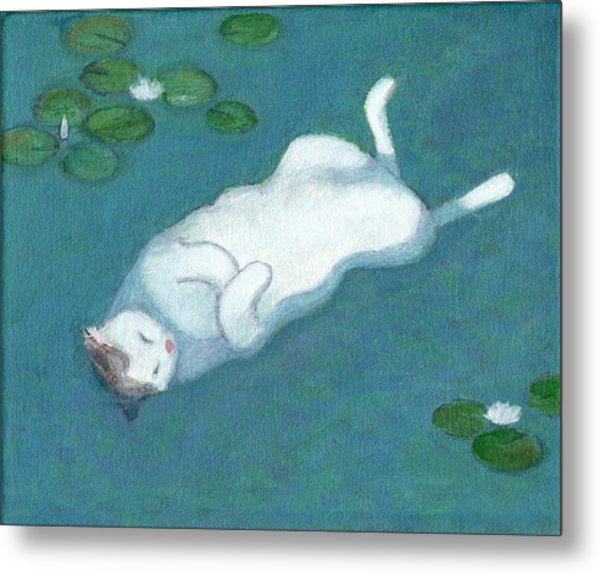 Cat On Vacation Metal Print