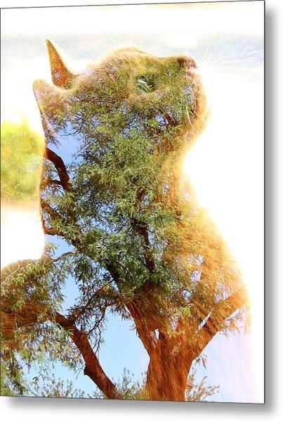 Cat Or Tree Metal Print