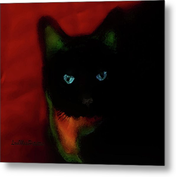 Cat Tiny You Painting Metal Print
