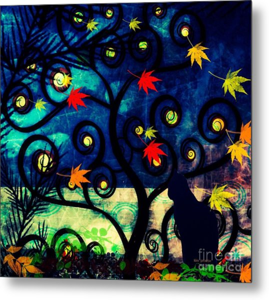 Cat Watch  Metal Print