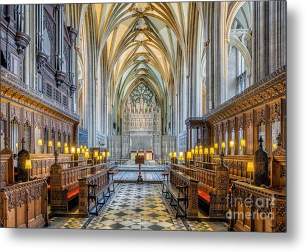 Metal Print featuring the photograph Cathedral Aisle by Adrian Evans