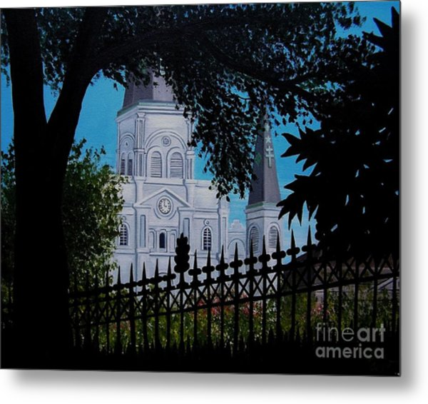 Cathedral At The Square Metal Print
