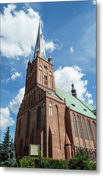 Cathedral Basilica Of St. James The Apostle, Szczecin A Metal Print