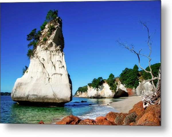 Metal Print featuring the photograph Cathedral Cove by Mark Dodd