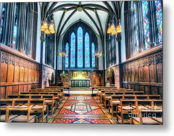 Cathedral Glow Metal Print