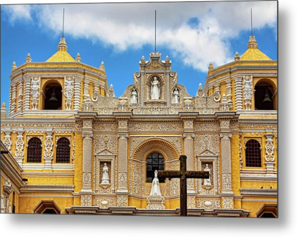 Cathedral In Antigua, Guatemala Metal Print