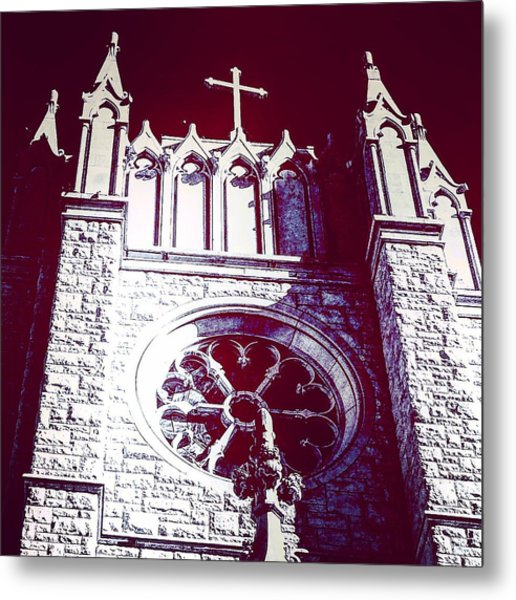 Cathedral In Archangel Glow Metal Print