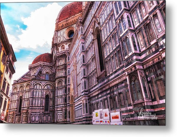 Metal Print featuring the photograph Cathedral In Rome by Linda Constant
