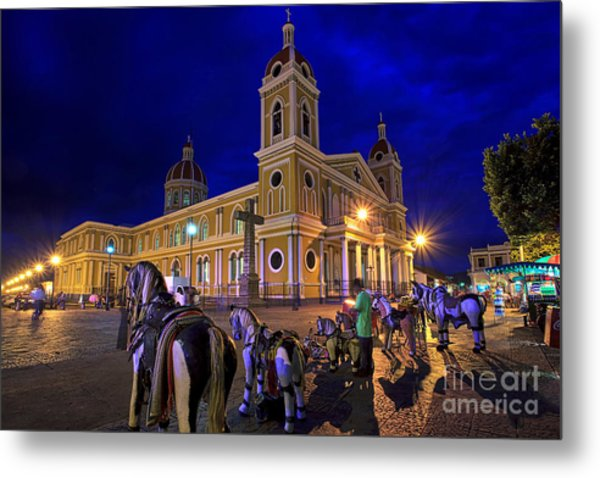 Cathedral Of Granada Shines Brightly Metal Print
