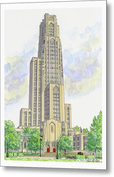 Cathedral Of Learning Metal Print