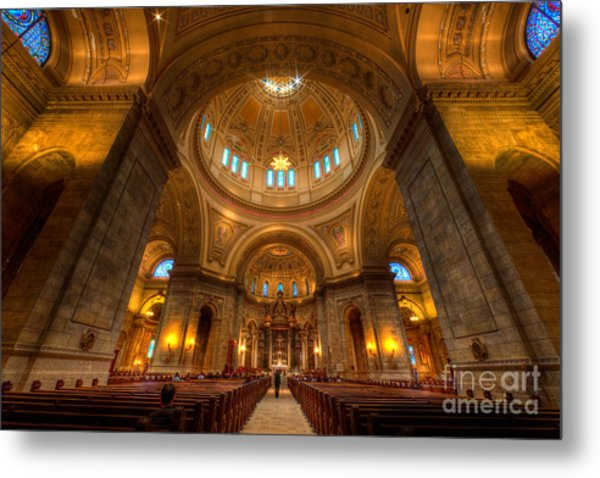 Cathedral Of St Paul Wide Interior St Paul Minnesota Metal Print