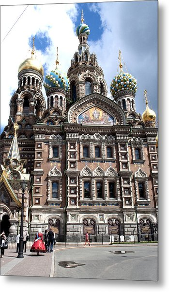 Cathedral Of The Spilled Blood C258 Metal Print by Charles  Ridgway