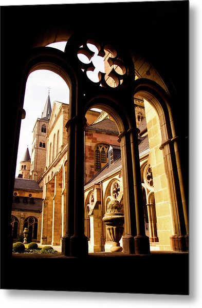 Cathedral Of Trier Window Metal Print