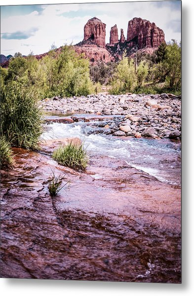 Cathedral Rock At Oak Creak Metal Print