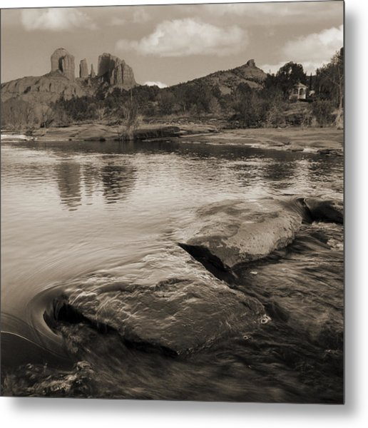 Cathedral Rock Flow Metal Print by Bob Coates