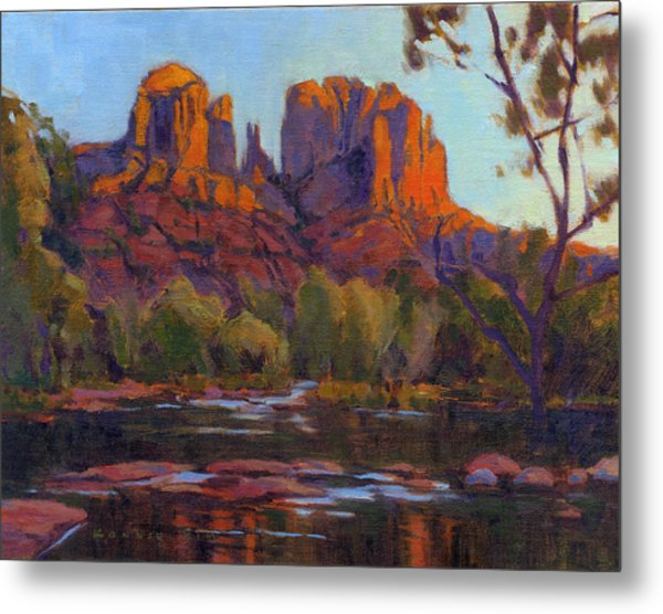 Metal Print featuring the painting Cathedral Rock by Konnie Kim