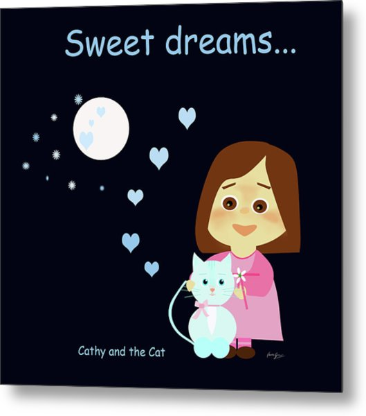 Cathy And The Cat Sweet Dreams Metal Print