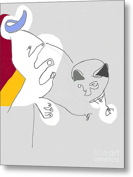 Cat's Meow Metal Print by Michael OKeefe
