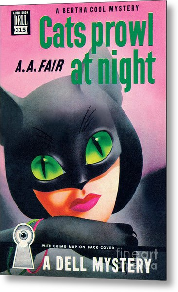 Cats Prowl At Night Metal Print