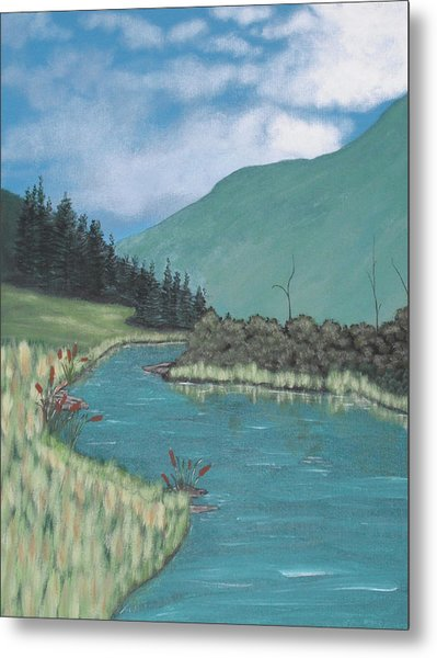 Cattails Metal Print by Candace Shockley