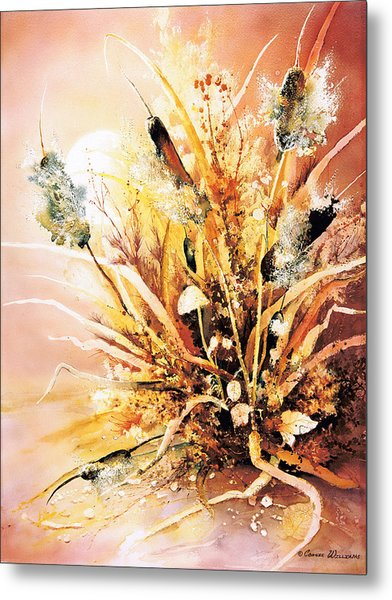 Cattails One Metal Print