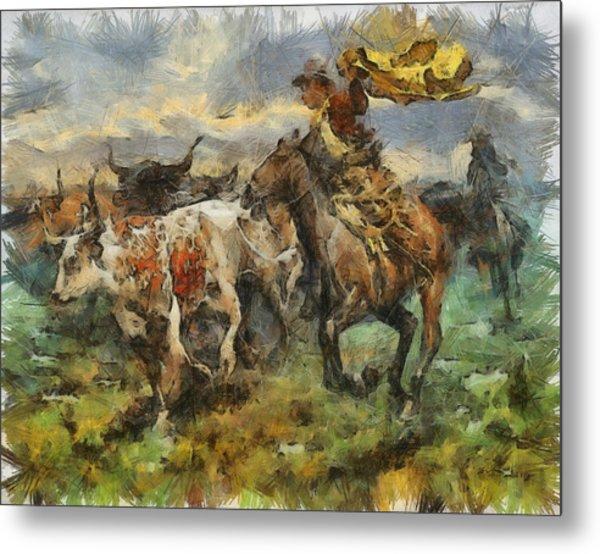 Cattle Metal Print by Shimi Gasaba