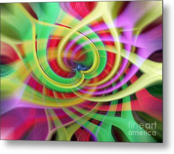 Caught Up In A Colorful Swirl Metal Print