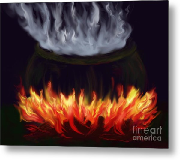 Cauldron Metal Print