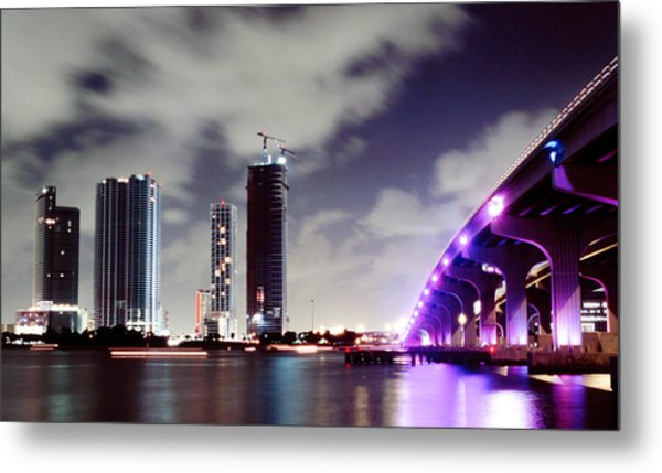 Causeway Bridge Skyline Metal Print