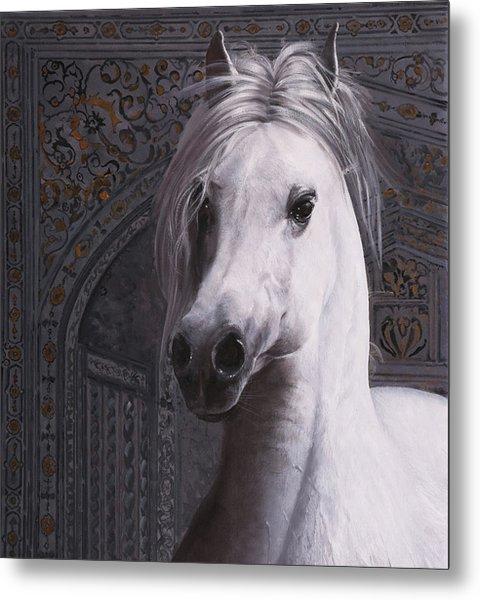 Cavallo Col Ciuffo Metal Print