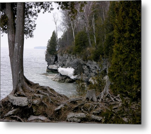 Cave Point Wisconsin Metal Print