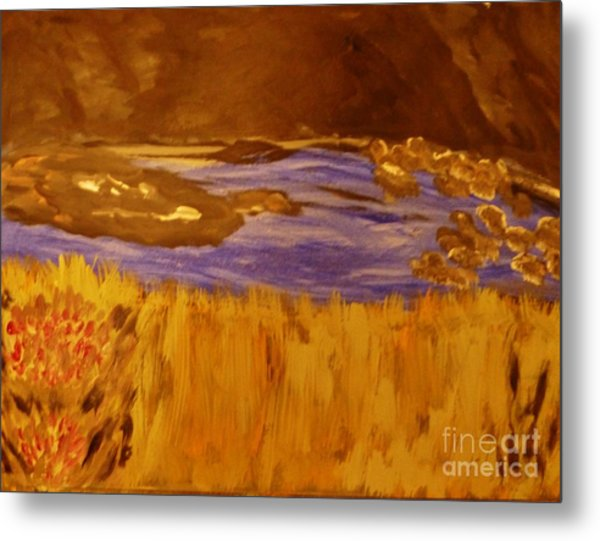 Caves And Watet Metal Print by Marie Bulger