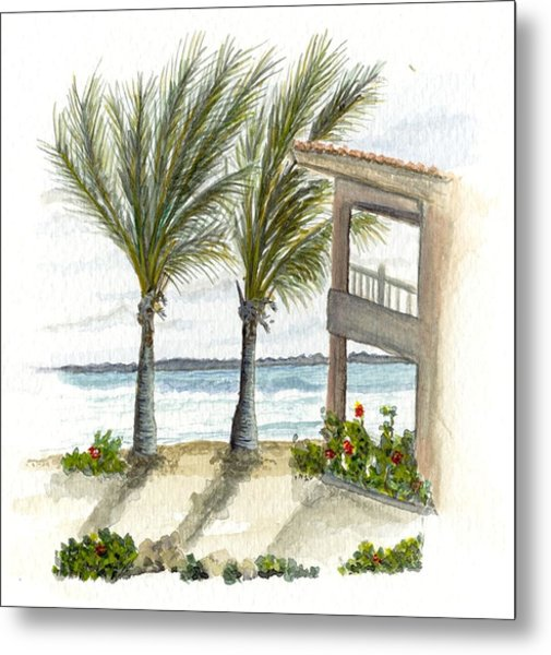 Metal Print featuring the digital art Cayman Hotel by Darren Cannell