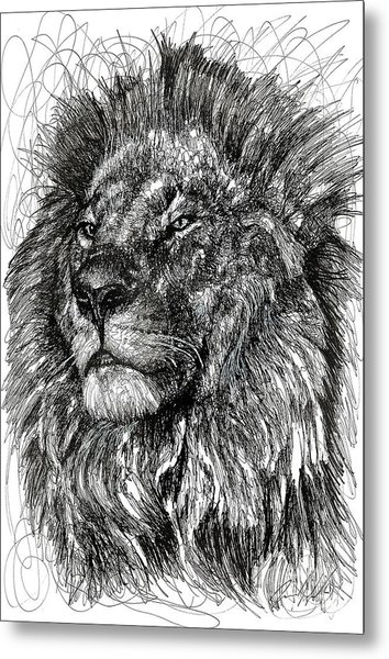 Cecil The Lion Metal Print