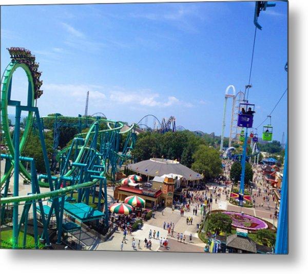 Cedar Point Amusement Park Metal Print