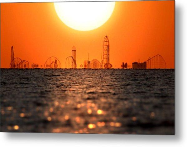 Cedar Point Skyline 2 Metal Print