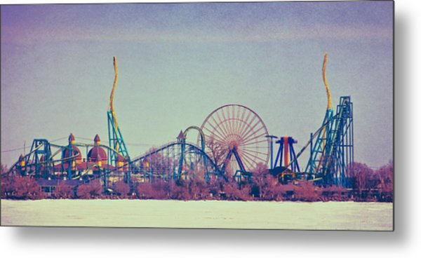 Cedar Point Skyline Metal Print