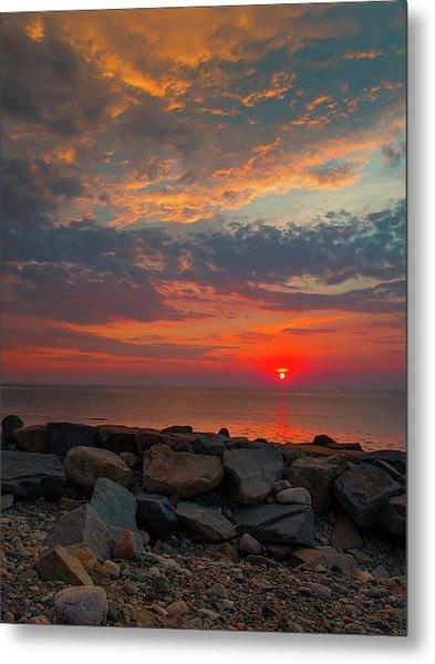Cedar Point Sunrise Metal Print