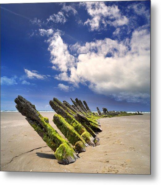 Cefn Sidan Beach 3 Metal Print