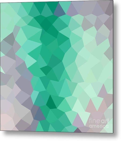 Celadon Green Abstract Low Polygon Background Metal Print by Aloysius Patrimonio