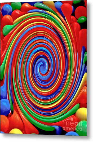 Celebrate Life And Have A Swirl Metal Print