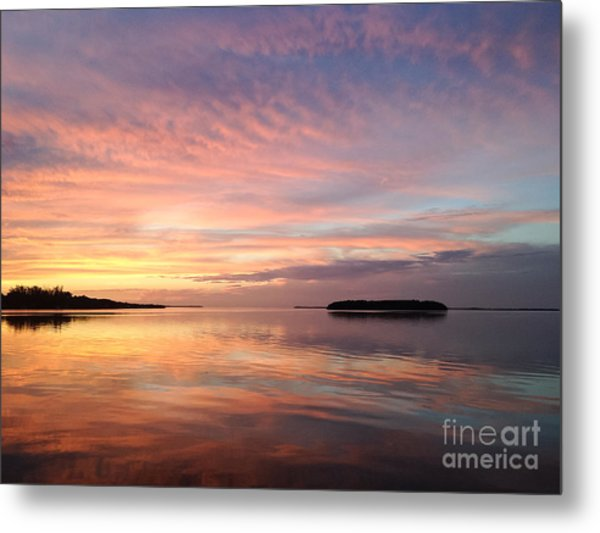 Celebrating Sunset In Key Largo Metal Print