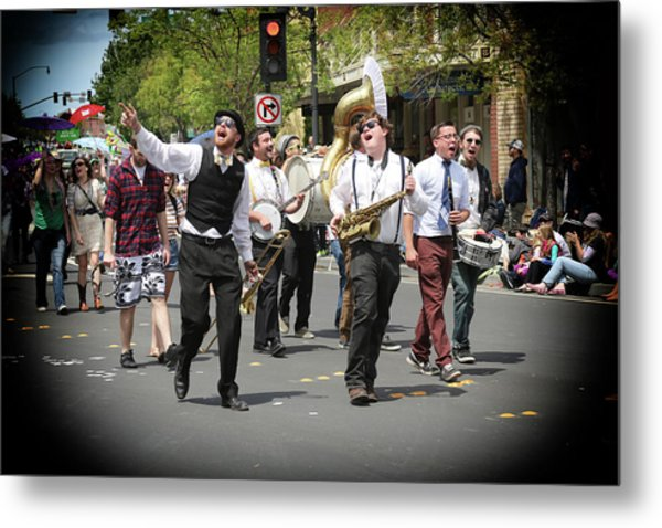 Celebrating The Holiday With Song Metal Print by Michael Riley