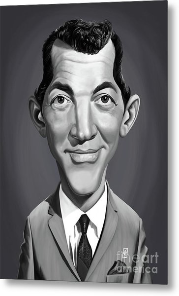 Metal Print featuring the digital art Celebrity Sunday - Dean Martin by Rob Snow