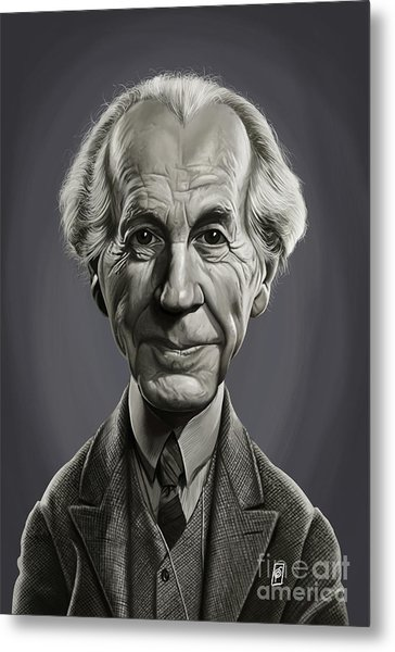 Metal Print featuring the digital art Celebrity Sunday - Frank Lloyd Wright by Rob Snow